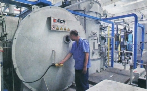 The only international advanced vacuum cementation furnace in domeatic bearing industry was put into production in LYC