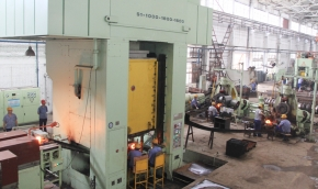 The largest 10000KN press forging production line was finished installation and debugging